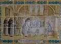 Panell ceràmic amb la història del monestir de la Mare de Déu dels Àngels, Xàbia.JPG