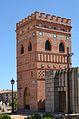 Panteó amb forma de torre mudèjar, cementeri de Sogorb.JPG
