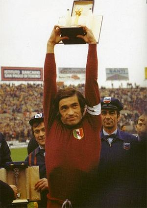 Paolo Pulici - Pulici as captain of Torino in 1976, after being awarded the 1975–76 Serie A top scorer title.