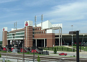 Louisville Cardinals - Papa John's Cardinal Stadium, as viewed from Central Avenue.