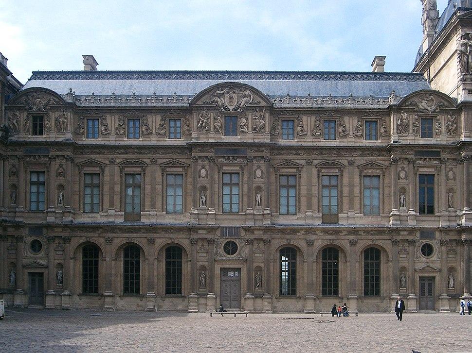 Paris 75001 Cour Carr%C3%A9e Louvre Aile Lescot 01a frontal