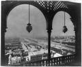 Paris Exposition; view of Paris from arched balcony of Eiffel Tower, Paris Exposition, 1889 LCCN2002723522.tif