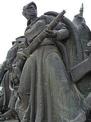 Partisanmonumentet i Skopje.