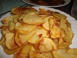 Receta de patatas en pelotón