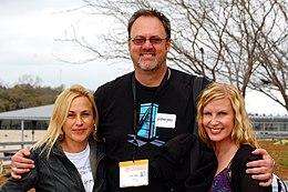 Arquette (left) in March 2011