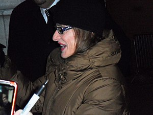 Patti LuPone - Patti LuPone on January 13, 2012, outside the Ethel Barrymore Theatre.