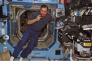 Cosmonaut Pavel Vinogradov, Expedition 13 commander in the ISS Destiny module NASA photo (18 April 2006)Source: Wikipedia 320px-Pavel_Vinogradov_Exp13.jpg