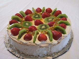 Pavlova (cake) Meringue-based dessert