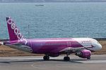 Peach Aviation ,MM177 ,Airbus A320-214 ,JA805P ,Departed to Nagasaki ,Kansai Airport (16614713970).jpg