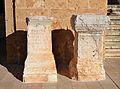 Pedestals amb inscripcions romanes a Dénia.JPG