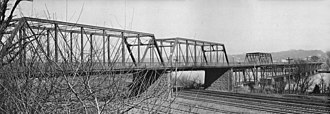 John Philip Sousa Bridge - The 1890 bridge, photographed about 1938 shortly before it was demolished.