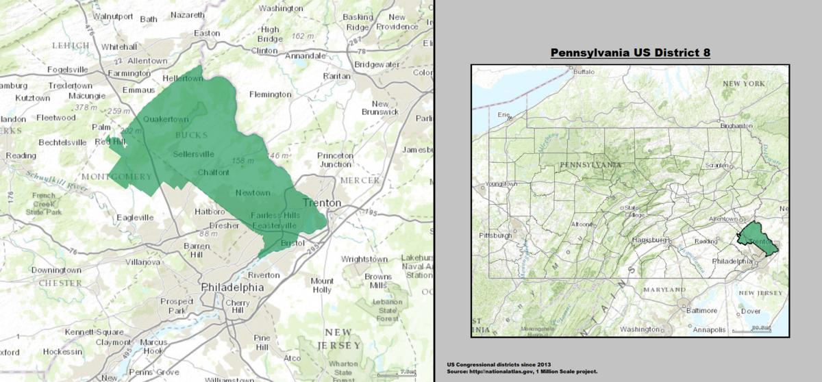 Pennsylvania39s 8th Congressional District  Wikipedia