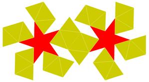 Pentagrammic antiprism - Image: Pentagrammic antiprism flat