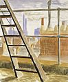 Peter Purves Smith - From a window in Pimlico (Battersea Power Station), 1940.jpg