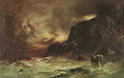 Petrus van der Velden - Storm at Wellington Heads - Google Art Project