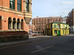 Samuel Mendel - Chepstow House (left); the Peveril of the Peak public house (right)