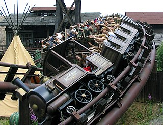 Mine train roller coaster