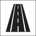 Pictograma Carretera con arcen.png
