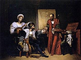 Charles Quint ramassant le pinceau de Titien