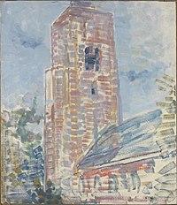 Piet Mondriaan - Church at Oostkapelle, nave and tower - 0334299 - Kunstmuseum Den Haag.jpg