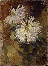 Piet Mondriaan - Two chrysanthemum blossoms - 0334265 - Kunstmuseum Den Haag.jpg