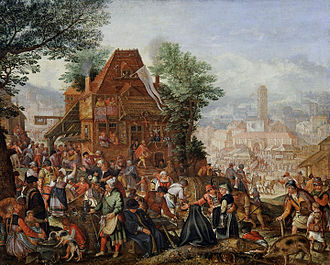 Pieter Stevens II - Feast on the anniversary of a church consecration