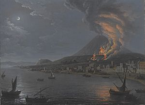 Pietro Antoniani - Eruption of Vesuvius seen from Torre del Greco