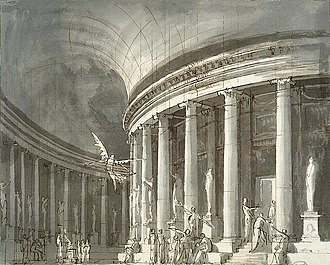 Pietro Gonzaga - Stage design with Rotunda Temple. 1790s, Hermitage Museum