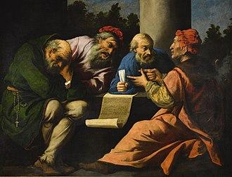 Pietro della Vecchia - A dispute among the doctors