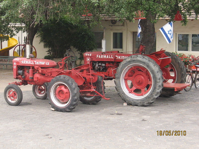 גן שמואל-טרקטורים ישנים 2010