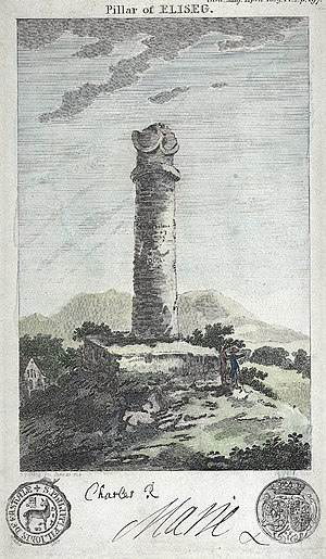 Pillar of Eliseg - The Pillar of Eliseg in 1809
