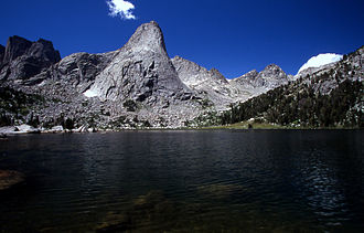 Cirque of the Towers - Pingora Peak rises above Lonesome Lake
