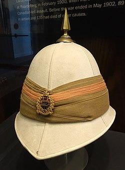 Pith helmet - Royal Canadian Military Institute - Toronto, Canada - DSC00325.jpg