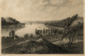 Pittsburg Pennsylvania along the ohio river early depiction of route 51 headed toward McKees Rocks early 1800s.PNG