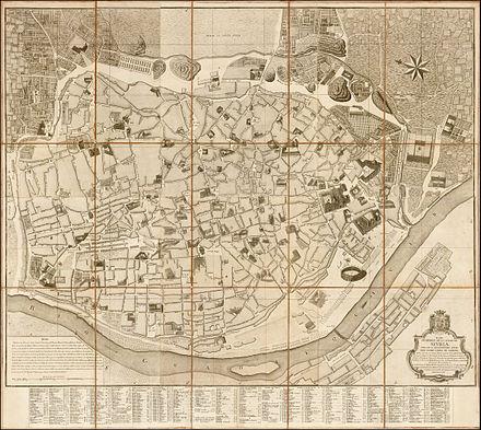 plano geomtrico de la ciudad de sevilla por juan lpez