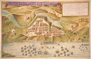"Iberian Union - ""Map of the Portuguese liberation of the city of Salvador in Brazil in 1625"", João Teixeira Albernaz, o velho, 1631"