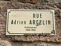 Plaque Rue Adrien Arcelin - Solutré-Pouilly (FR71) - 2021-03-02 - 1.jpg