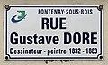 Plaque rue Gustave Doré Fontenay Bois 3.jpg