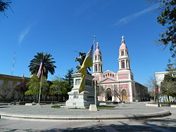 Square and cathedral in Rancagua