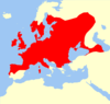 Plecotus auritus range Map