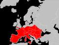 Plecotus austriacus range Map.png
