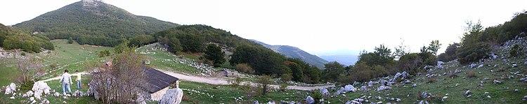 Panorama del territorio dalle montagne circostanti