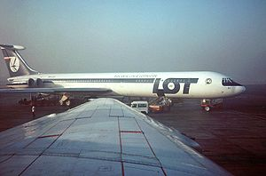 LOT Polish Airlines - A LOT Ilyushin Il-62 on stand at Cairo International Airport in 1978