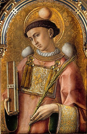 Saint Stephen - Saint Stephan by Carlo Crivelli