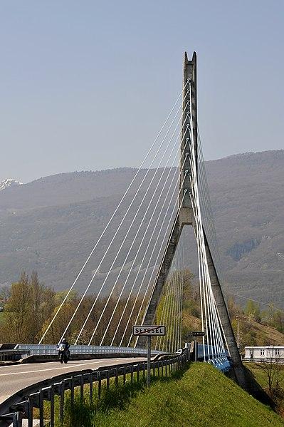 Seyssel bridge; Haute-Savoie, France.