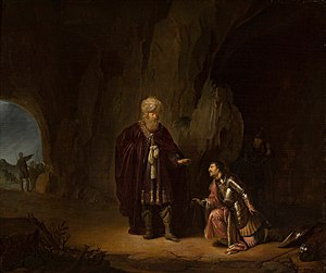 Saul and David in the cave of En-Gedi