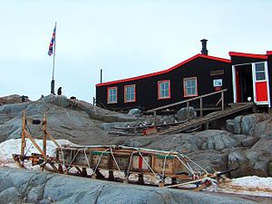 Port Lockroy - The base has been renovated into a museum.