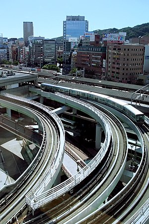 Port Island Line - Sannomiya Station of Port Liner