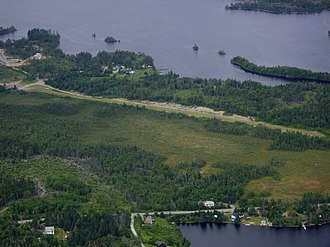 Porters Lake Airport - Aerial view of Porters Lake Airport