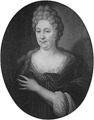 Portret van Magdalena de Sadelaer (1657-1718), echtgenote van Johannes Voet